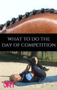 what to do the day of competition