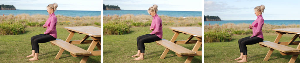 Neutral spine sitting