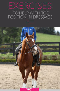 Dressage exercises for toe position