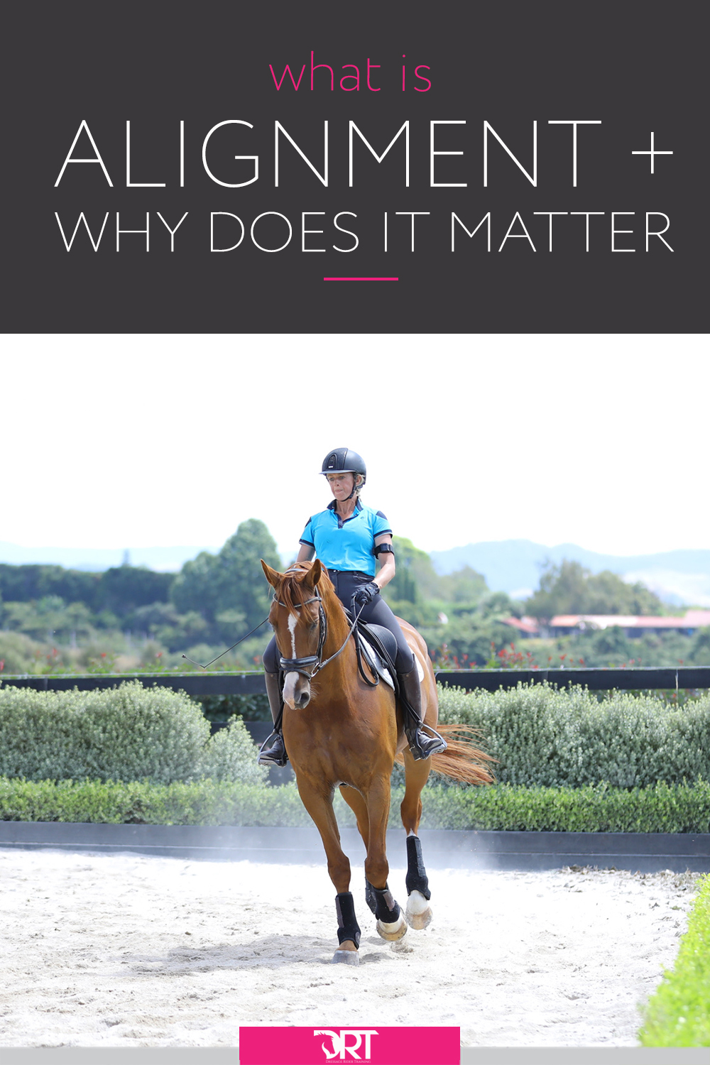 What does it mean to be aligned in dressage and how to you achieve this as a rider? In this article I go into detail about it and also why it matters. #dressage #dressagerider #dressagetraining