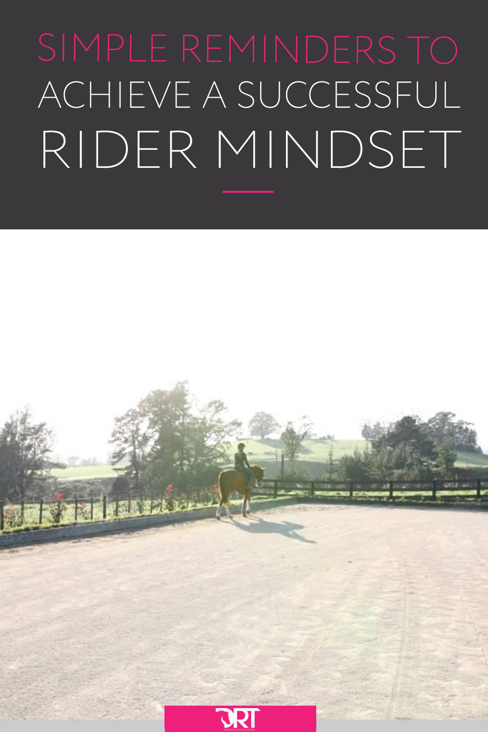 Some tips and advice on how to set up each ride in the right mindset to be successful. #dressagemindset #dressagetips #dressagetraining #dressage