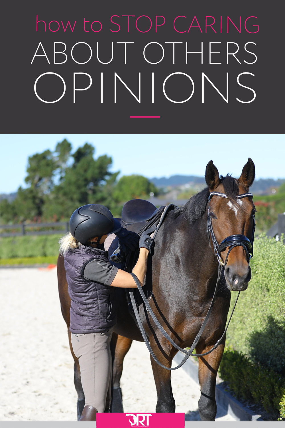 Learn how to focus on your own goals and not worry about what others are thinking. #dressage #dressagetraining #dressagerider