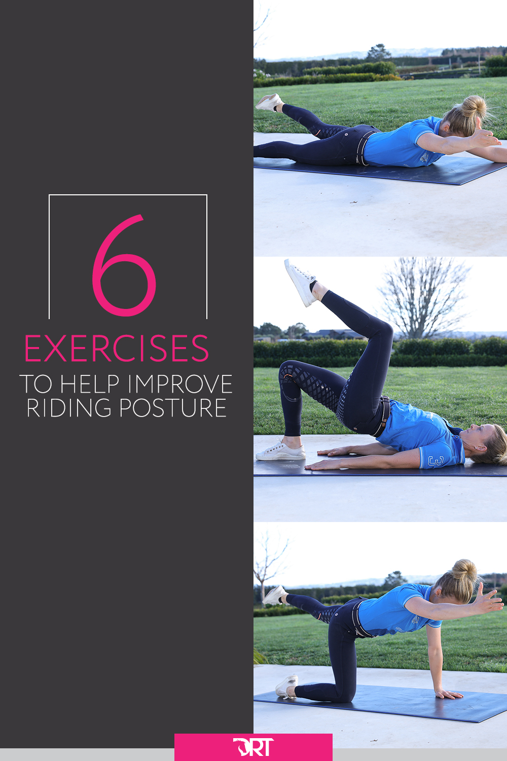 Here are my top dressage exercises that you can do at home to help improve your position and posture in the saddle. #dressageexercises #dressage #dressagetraining
